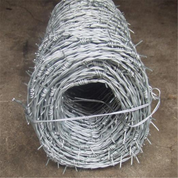 Galvanized or PVC coated Single twist barbed wire