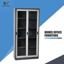 Glass sliding door metal cabinets for book display