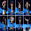3D Engraved Crystal Ball Footall Champions Trophy Awards