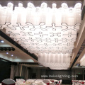 Banquet lobby transparent crystal led chandelier light