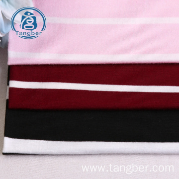New design striped jersey knit rayon spandex fabric