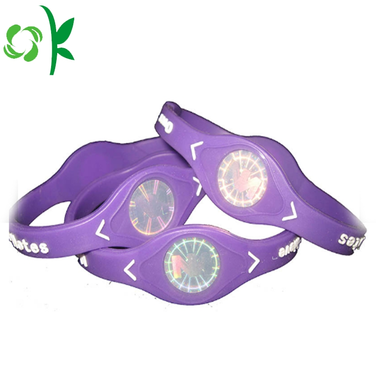 purple silicone power bracelet