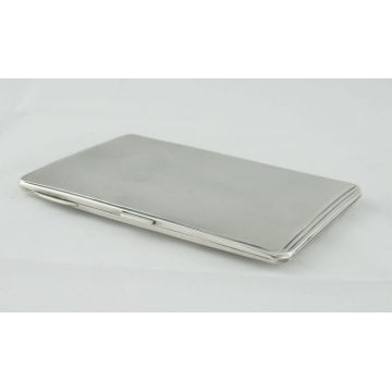 The metal cigarette case