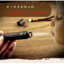 Charging Electric Lighter Rechargeable USB lighters Creative Blow Ignition Wood Carving Flameless Electronic Cigarette Lighters