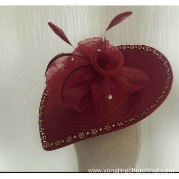 NEW-Women's Satin Church Fascinators Hats --YJ82