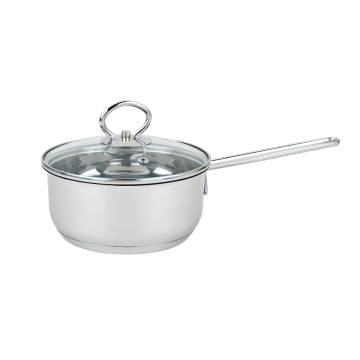Stainless Steel Milk Pot with Long Handle