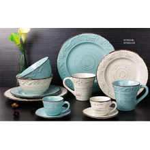 Hand-painted and Embossed Dinner Set 16PCS