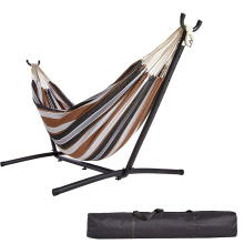Free standing double hammock with stand