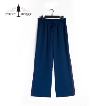 Casual Lightweight Blue Women Loose Wide Leg Pants