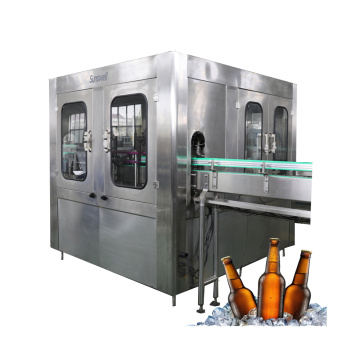 Bottled Beer Washing Filling Capping Bottling Plant