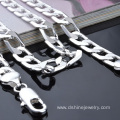 Silver Plated Stainless Steel Jewelry Factory Chain Necklace