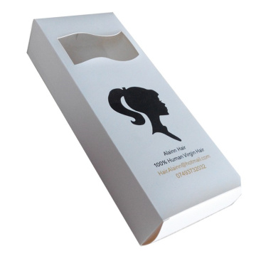 Custom White Paper Hair Packaging Boxes Wholesale