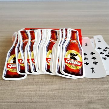 custom design color logo paper playing cards game