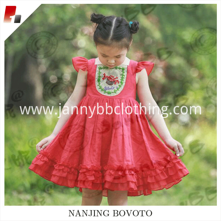 red embroidery dress03