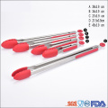 Silicone Stainless Steel 7 Inch Locking Kitchen Tongs