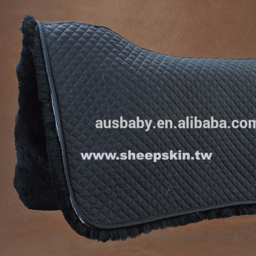 sheepskin saddle blanket and pad