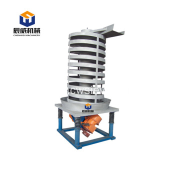 Customized size vertical spiral lift conveyor for box