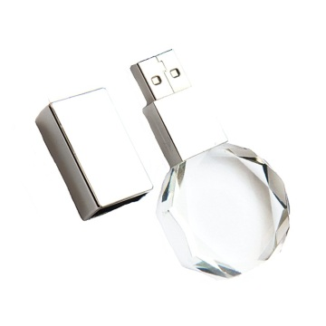 Custom Pendrive Transparent Crystal Shiny Usb Flash Drive