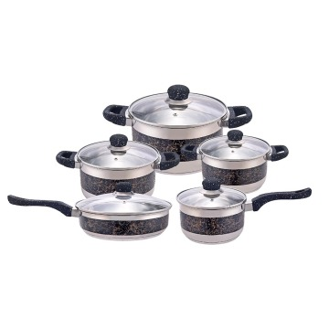 10piece stainless steel pots and pans set