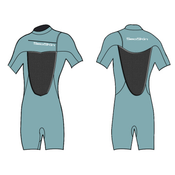 Seaskin 2mm Chest Zip Shorty Wetsuit for Men