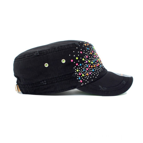 Women flat peaked military cap