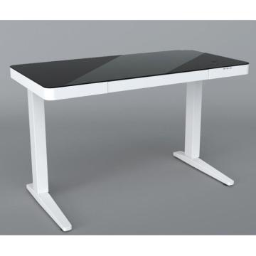 Modern tempered Glass Computer Workstation Desk