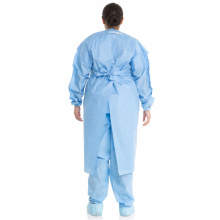 Hospital Surgical Blue Non-woven Disposable Isolation Gown