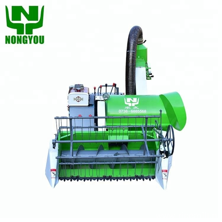 Crawler-type mini rice combine harvester  price in india