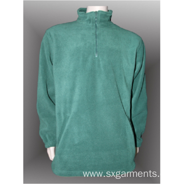 100% polyester man's polar fleece half zipper top