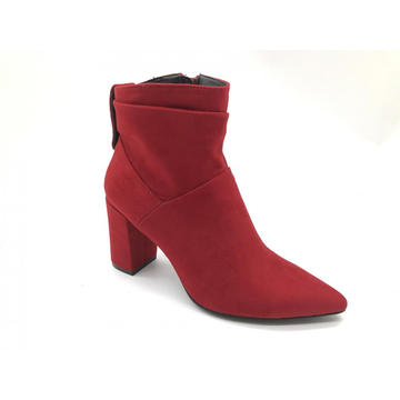 Ladies Ankle Bootie Side Zip Chunky Heel Boots