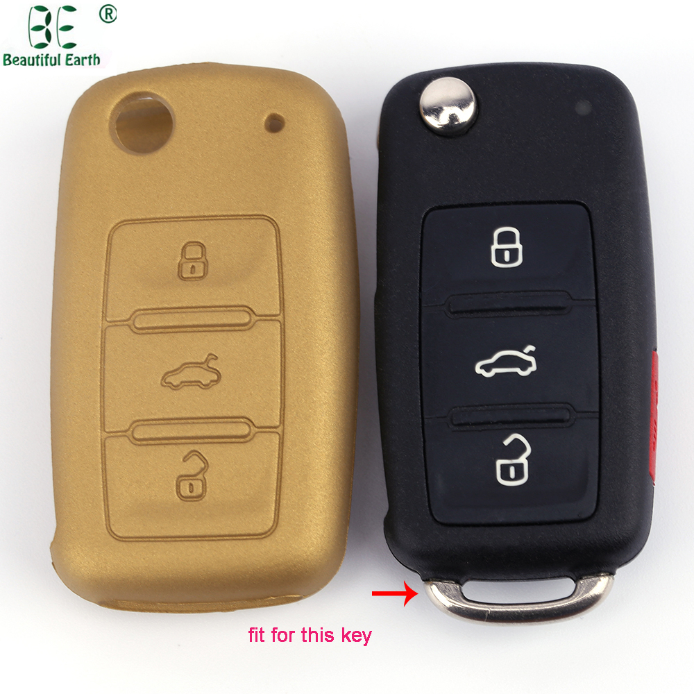 Metallic Gold Volkswagen Skoda 3 buttons