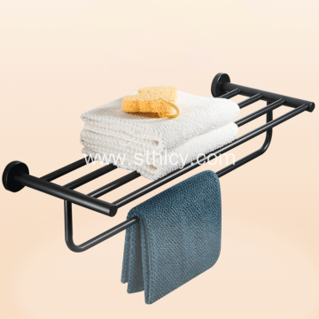 Black 304 Stainless Steel Towel Rack Household