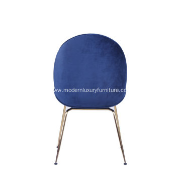 Gubi Cashmere Beetle Chair With Polished Steel Frame