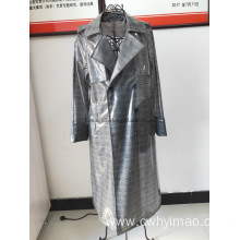 Man windproof and waterproof long outerwear
