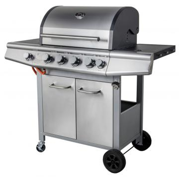 4 Burner Propane Gas Grill with Timer