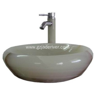 Luxurious Look Jade Stone Bathroom Sink Bowl