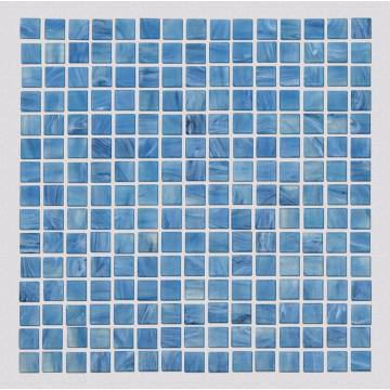 Blue Square Glass Mosaic For Outdoor Swimming Pool