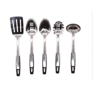 Steel Kitchen Utensil Set 5pcs Cooking Utensils