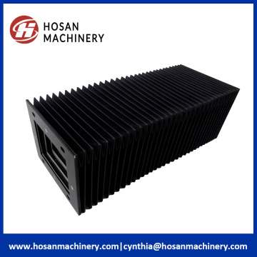 Nylon flexible accordion cover for machine tool