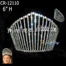 Rhinestone wholesale beauty king and queen crowns