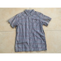 Short Sleeve Dark Color Check Shirt