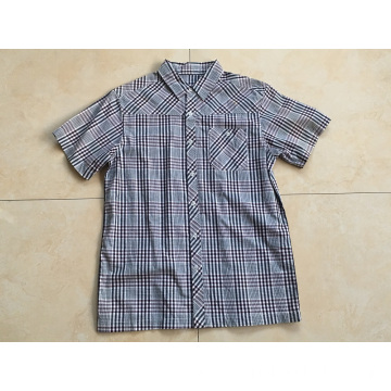 High Quality Short Sleeve Check Shirts