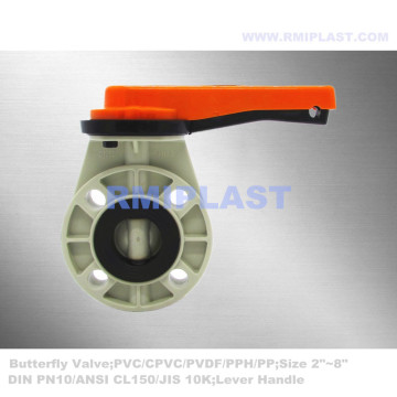 GRPP Butterfly Valve Manual Operate ANSI CL150