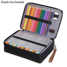 Multifunction 200 Holes Pen Box Pencil Case for Drawing Painting Art Marker Pens High capacity Pencil Case School Stationery Bag