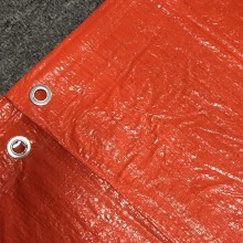 Virgin Coated Truck Cover Orange Tarpaulin