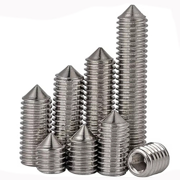 Stainless steel Hexagon socket set screws with cone point DIN914