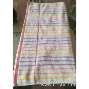 100% cotton color striped towels