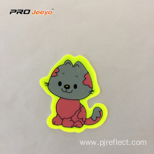 Reflective Adhesive Pvc Cat Shape Stickers For Children