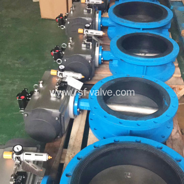 Pneumatic Double Flange Butterfly Valve