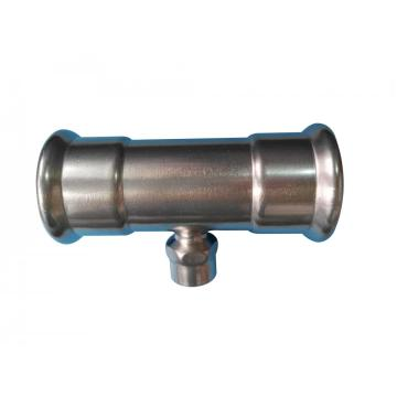 Stainless Steel Press Pipe Reducing Tee Fitting